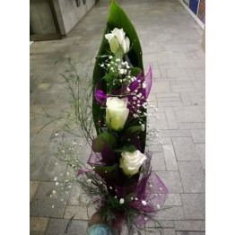 Букет 3 бели рози